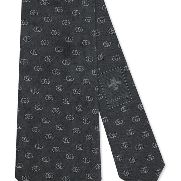 Gucci Other - GUCCI Running Logo Silk Jacquard Tie